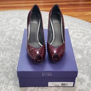 Stewart Weitzman Patent Victoria Shoe Size 7.5